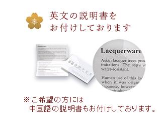英文の説明書をお付けしております。ご希望の方には中国の説明書もございます。
