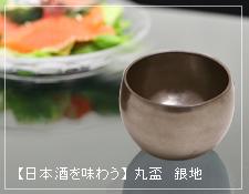 日本酒を味わう 角盃 銀地