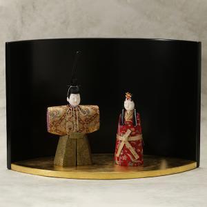 「吉徳大光」江戸木目込み雛人形と漆器屏風舞台 ≪ひな祭り期間限定≫