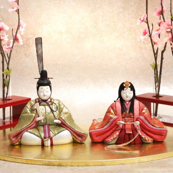 「吉徳大光」江戸木目込み雛人形と扇面雛舞台 【ひな祭り期間限定】 【送料無料】